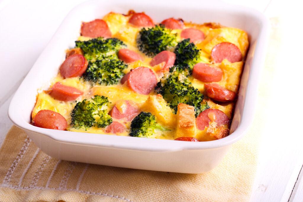 Broccoli and Cheese Breakfast Casserole