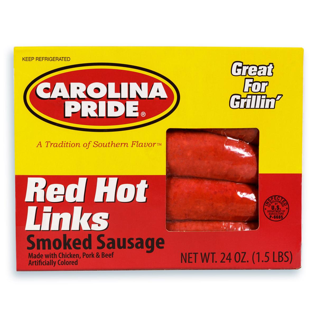 Red Hot Links Smoked Sausage – 3627