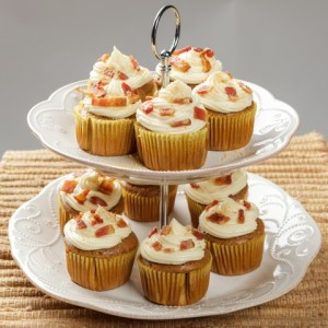 Bacon Maple Spice Cupcakes