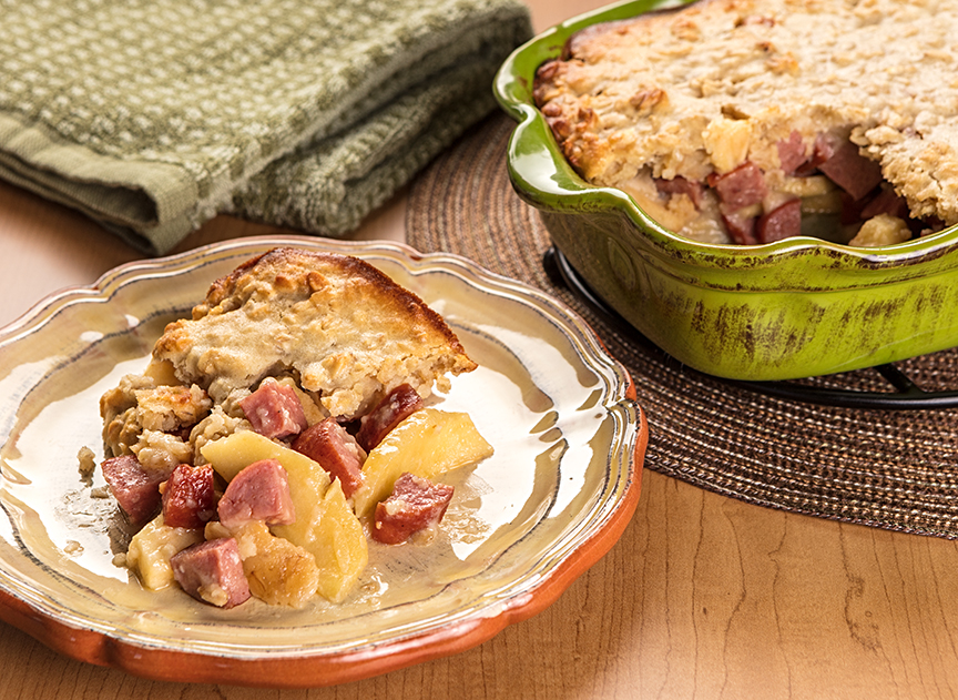 Apple and Sausage Bake