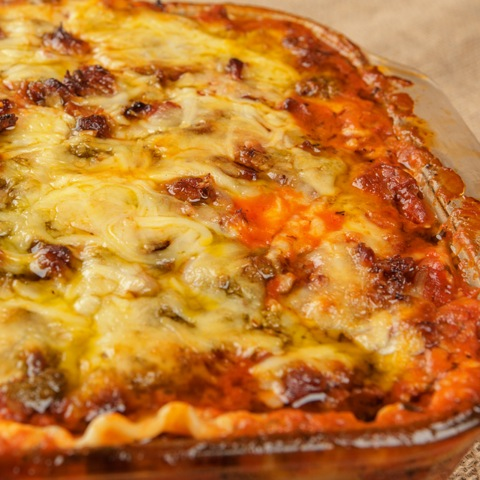 Sausage and Bacon Lasagna