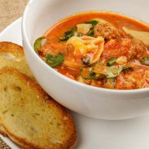Chorizo Tortellini Soup